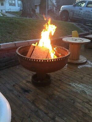 """36"""" Custom Fire Pit Steampunk Art  Up cycled"""