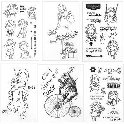 Various Clear Rubber Stamps for DIY Scrapbook Decor Card Making Crafts Supply