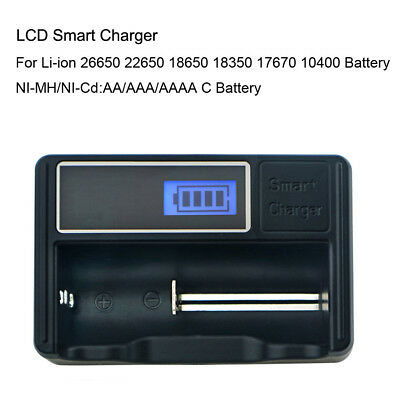 USB Battery Charger LCD Display For AA/AAA Ni-MH/Ni-Cd Rechargeable Batteries