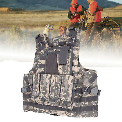 ACU Camo Military SWAT Airsoft Tactical Vest Army Molle Hunting Paintball
