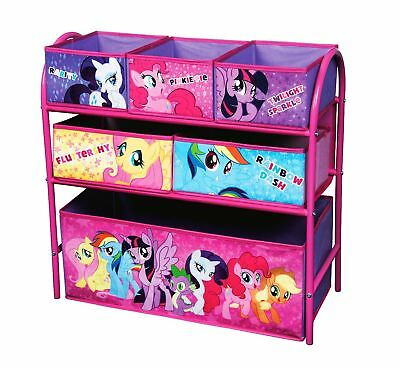 My Little Pony Kids Metal Bedroom And Playroom Furniture Organiser Storage Unit