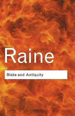 Blake and Antiquity by Kathleen Raine (English) Paperback Book Free Shipping!