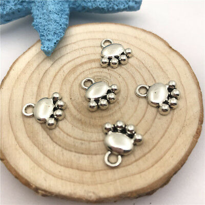 50 x 10mm  Tibetan Silver Heart Pendants Charms Jewellery Craft  C177