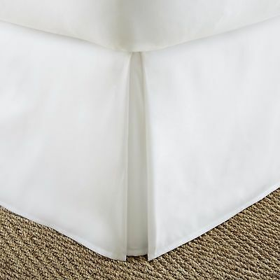 1200 TC Egyptian Cotton White Solid Bed Skirt All US Size Select Drop Length