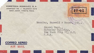 Costa Rica: 1945: San Jose to New York