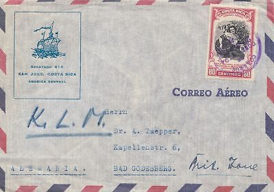 Costa Rica: 1951: San Jose to Bad Godesberg via KLM
