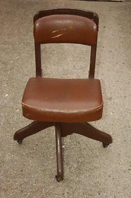 Vintage 1940s DO/MORE Wooden Domore Office Chair Posture Research Elkhart IN