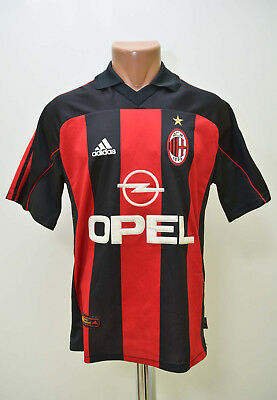 Ac Milan Italy 2000/2001/2002 Home Football Shirt Jersey Maglia Adidas S Adult