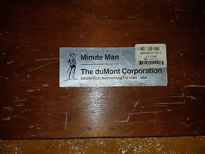 DuMont Minute Man 10-10A Broach Set New, Old Stock (931-3)