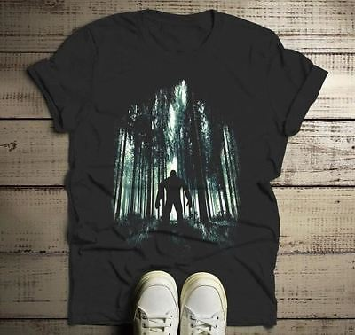 119447ec Men's Cool Bigfoot T-Shirt Forest Sasquatch Tee Grunge Hide Seek Hipster