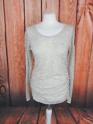 Sweater maternity ecru pattern leopard H&M Mama in very good condition, Size M