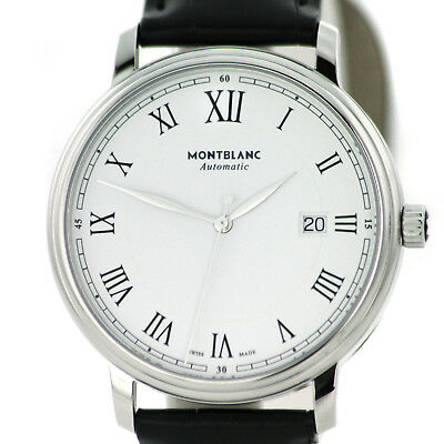 64f0d8e6e84 Watch Montblanc Tradition Date Automatic White Dial 40mm Alligator Strap  112609