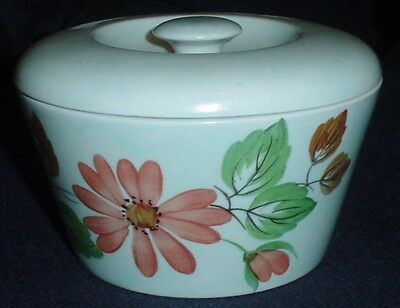 Pretty Hand Painted Vintage E Radford Small Pottery Lidded Pot Bowl FX A