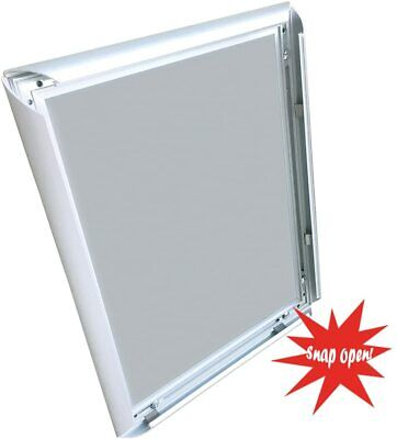 """Snap Frame Silver 22"""" x 28"""" Graphic Size 24 x 30""""  Overall. 3/4 inch profile."""