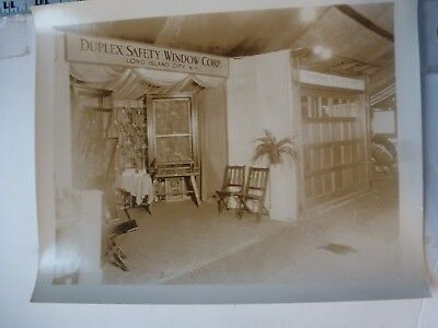 Vintage Photo-Salesman Promo Duplex Safety Window #2 Show Long Island NY 1920's