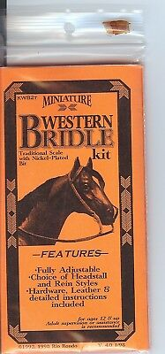Rio Rondo Western Bridle Kit Etched Bit for 1:9 scale Breyer horse DK BR leather