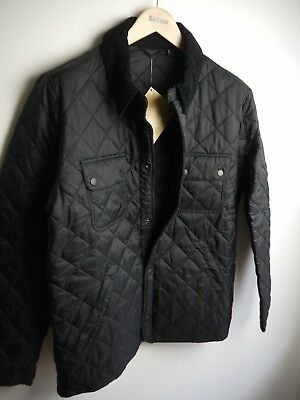 Barbour Men's Tinford Quilted Jacket, Large, Black, New With Tags