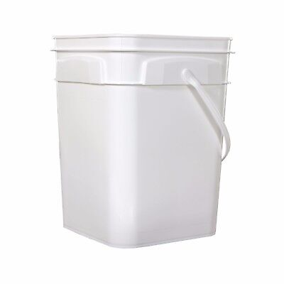 ROPAK Used Food-Grade Plastic Rectangular Bucket Pail w/Handle +LID