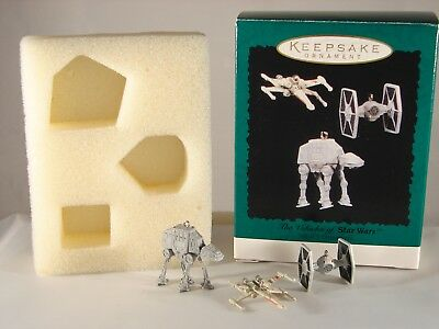 Hallmark Keepsake Set of 3 Miniature Ornaments The Vehicles of Star Wars 1996