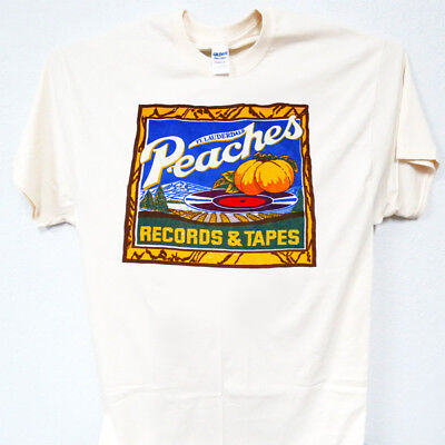PEACHES, Records & Tapes, Vintage, Old School, Ivy T-Shirt-All Sizes T-1280