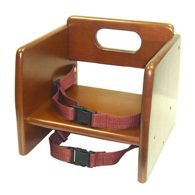 Thunder Group WDTHBS019 Wooden Stackable Booster Seat w/ Walnut Finish