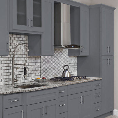 10x10 ALL WOOD Kitchen Cabinets Colonial Gray Fully Upgraded Group Sale