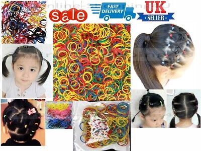 Mini Clear Hair Elastics Rubber Bands Braid Braiding Plaits Bands Ponytail 300pc
