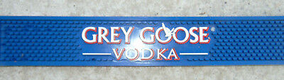 "GREY GOOSE VODKA Liquor Blue Rubber Drain/ Drip Bar LARGE 20"" Mat USED **"