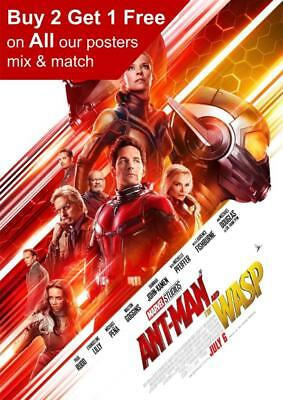 Antman And The Wasp 2018 Movie Poster A5 A4 A3 A2 A1