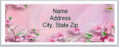 Personalized Address Labels Cherry Blossoms Buy 3 get 1 free (bx 547)