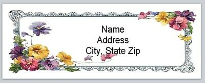 Personalized Address Labels Vintage Spring Flowers Buy 3 get 1 free (bx 562)