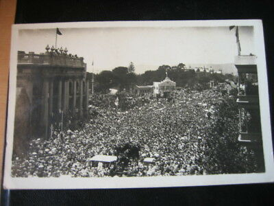 Rare Vintage 1918 Ww1 Armistice Day North Tce Adelaide Photo Postcard