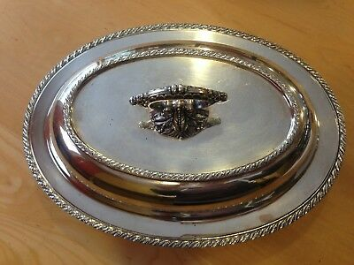 """Vintage Silverplated Wallace Melford Covered Serving Dish 11"""" X 8"""""""