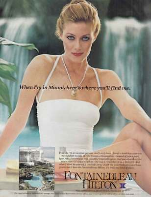 1981 Fontainebleau Hilton: When Im In Miami Heres Where Vintage Print Ad