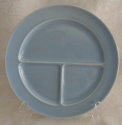 """LuRay TS&T - Compartment Divided Grill Plate 10"""" - Windsor Blue"""