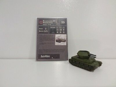 """Axis & Allies Contested Skies Flakpanzer IV Wirbelwind 29/45 """"RARE"""""""