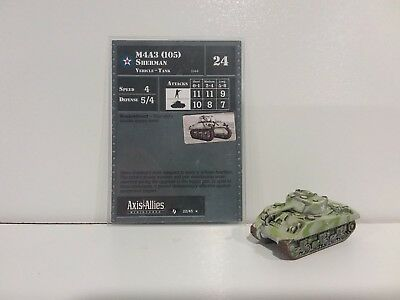 """Axis & Allies Contested Skies M4A3 (105) Sherman 22/45 """"RARE"""""""