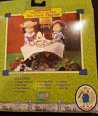 """New Madeline Doll 8"""" Tea Party Play Set Teapot Cups Saucer Cutlery Cookies Ginny"""