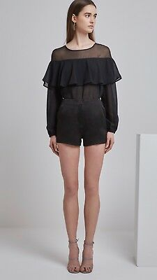 Finders Keepers Tanner Short Black Size Small RRP $139.95