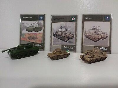 Axis & Allies Base Set 3 Rare Miniatures New/Unplayed U.S/Italy