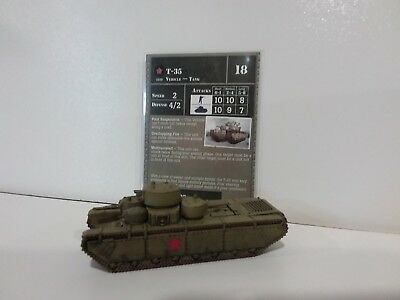 """Axis & Allies Rare T-35 Tank 13/45 Russia """"Reserves"""" New Unplayed"""