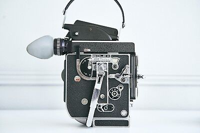 BOLEX H16 REX-5 16MM MOVIE CAMERA with FADER 13X VIEWER Mint Condition