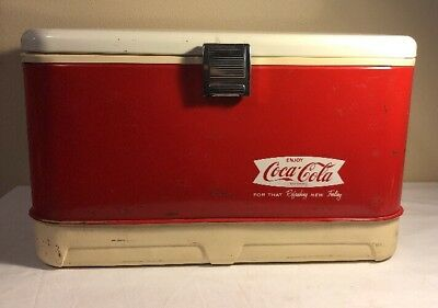 Vintage 1960s Enjoy Coca-Cola For That Refreshing New Feeling Ice Chest Cooler