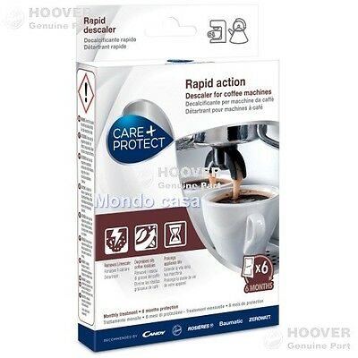 Détartrant Care Protect Hoover 6 Sachets Machines Café Bouilloires Original