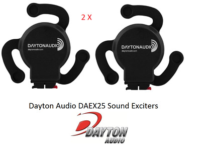 2 X Dayton Sound Exciter  5W Wideband Frequency Response Sounding Speaker System