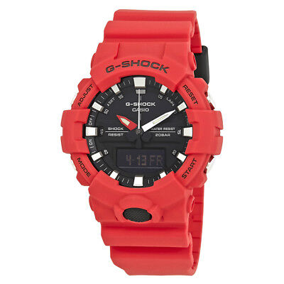 Casio G-Shock Black Dial Mens Red Resin Watch GA-800-4ACR