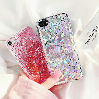 Shockproof for Samsung Galaxy Phones Glitter Sparkle Bling Silicone Case Cover