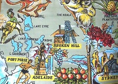 Vintage Tennyson Tablecloth - Map of Australia - New in Packet