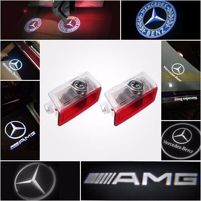 2/4 Mercedes Benz Projector Car Door LED Courtesy Lights Puddle Ghost Laser LOGO