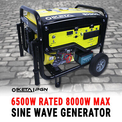 Petrol Generator Sine Wave 8000W Max Site Camping Portable Backup Power Supply